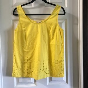 GAP Bright Yellow Laser Cut Tank Small